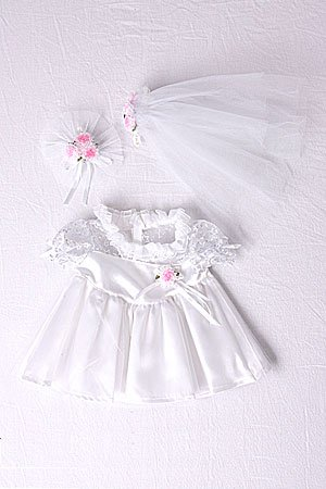 Bride teddy bear clothes