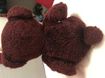back view of Burgundy Teddy Bear