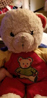 Color block childrens teddy face