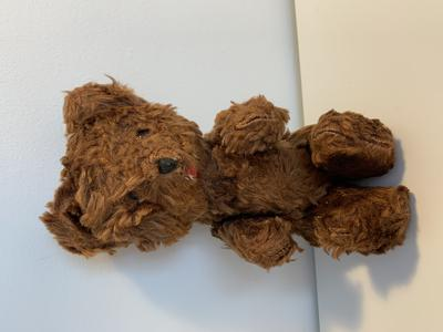 "Dark brown jointed 8"" bear"