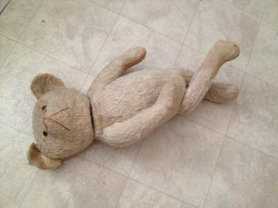 teddy bear lying down