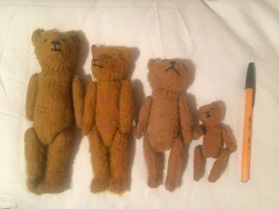 Four Found teddy Bears