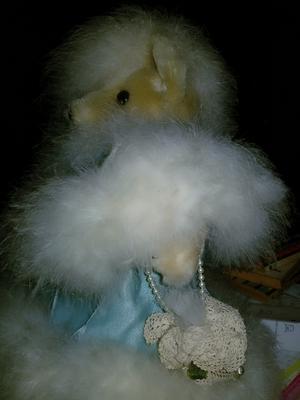 old white teddy bear