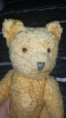 Old Yellow teddy bear face