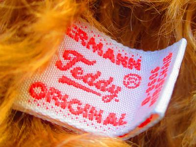Hermann teddy bear label