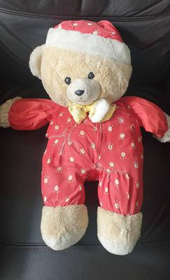 Teddy bear in red pajamas