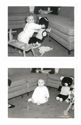 My mom and her teddy bear