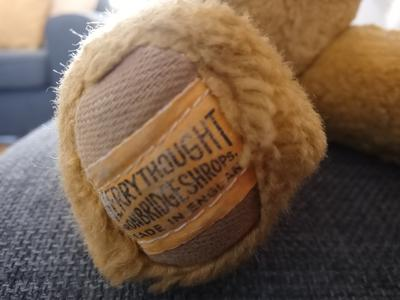 Merrythought Bear lable