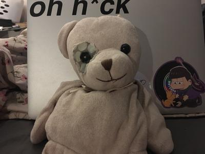 2002 Pink Teddy Bear With Ribbon