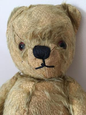 My childhood teddy bear close up