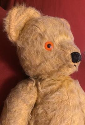 Musical teddy Bear close up face