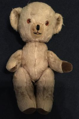 Old musical teddy 1950-1960s possible Merrythought
