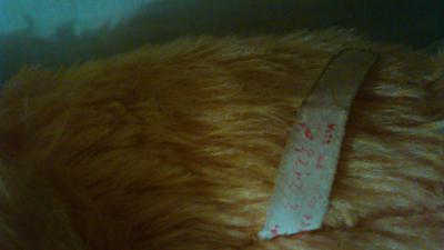 Old orange Bear label