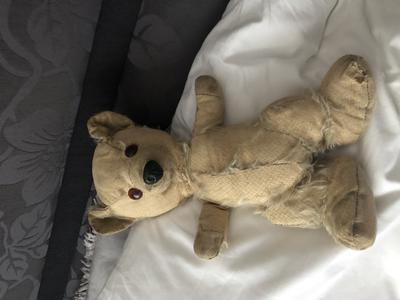 Old teddy of unknown origins.