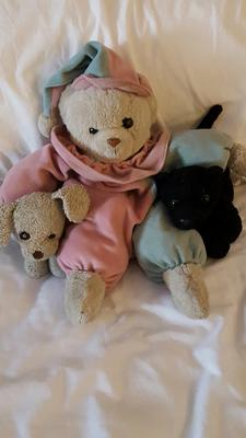 Pastel Pink and Blue Teddy Bear Clown