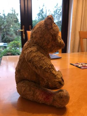 mums old teddy bear side view