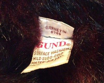 Gund teddy bear label