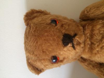 Sad teddy bear face
