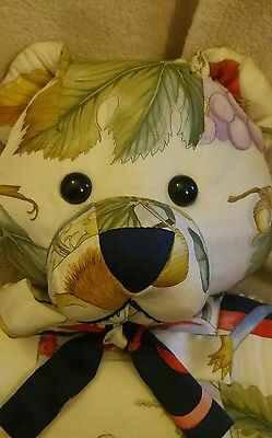 face of Salvatore Ferragamo silk teddy bears