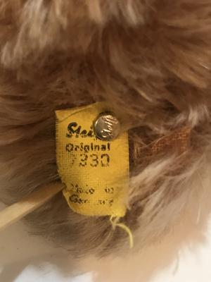 Steiff Teddy Bear label