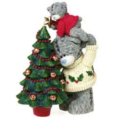 Xmas tatty teddy Bear Figurine