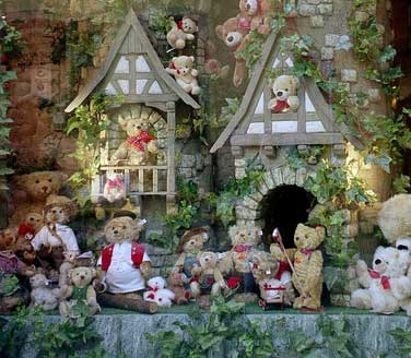 Teddy bear display