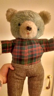 Teddy Bear with tartan shirt