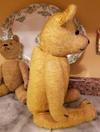 side view of old teddy bears