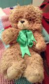This is my Bear that growls wen u lean him over