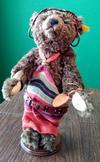 Steiff bear in african dress