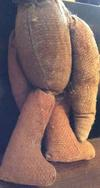 Teddybear in the Wall wonky legs