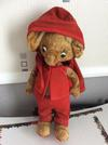 Mouse cuddly toy in red outfit