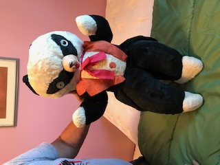vintage panda teddy bear from the 60's