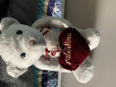 White Bear with Burgundy