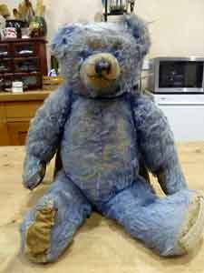 Blue Teddy Bear 1940s
