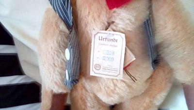 German teddy bear label