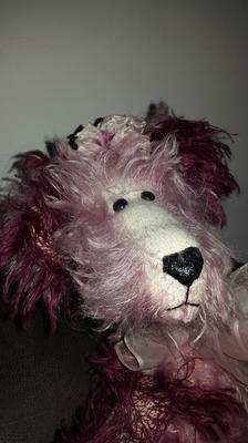 Purple Artist's bear