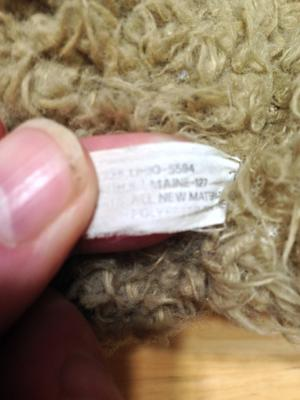 teddy bear label