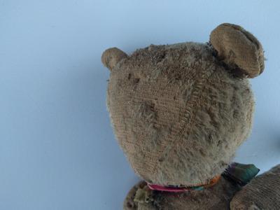 back of teddy bears head