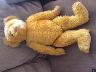 Old yellow teddy Bear