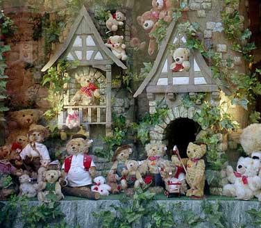 Teddy bear display