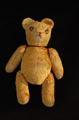jointed old teddy bear