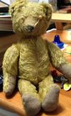 full view of y antique teddy bear