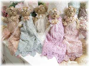 Victorian dressed teddy bears